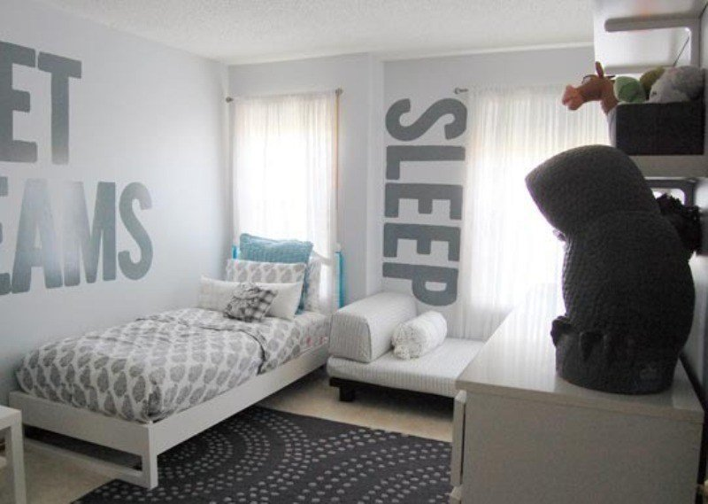 Best A Monochromatic Gray Shared Kids Room Design Kidsomania With Pictures