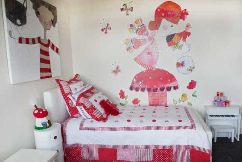Best Red And White Delightful Girl's Bedroom Design Kidsomania With Pictures