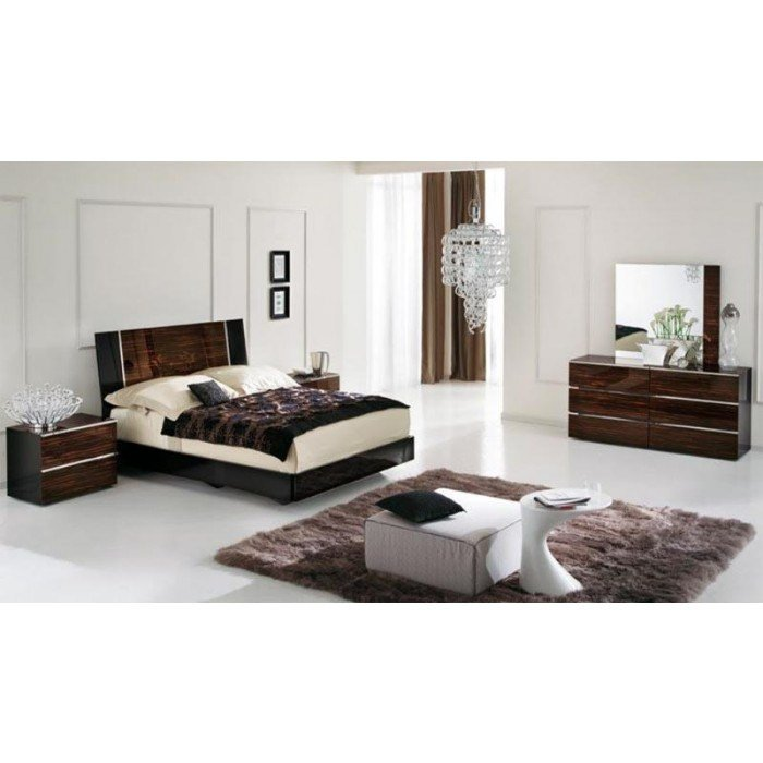Best Venere Italian Lacquer Modern Bedroom Set With Pictures