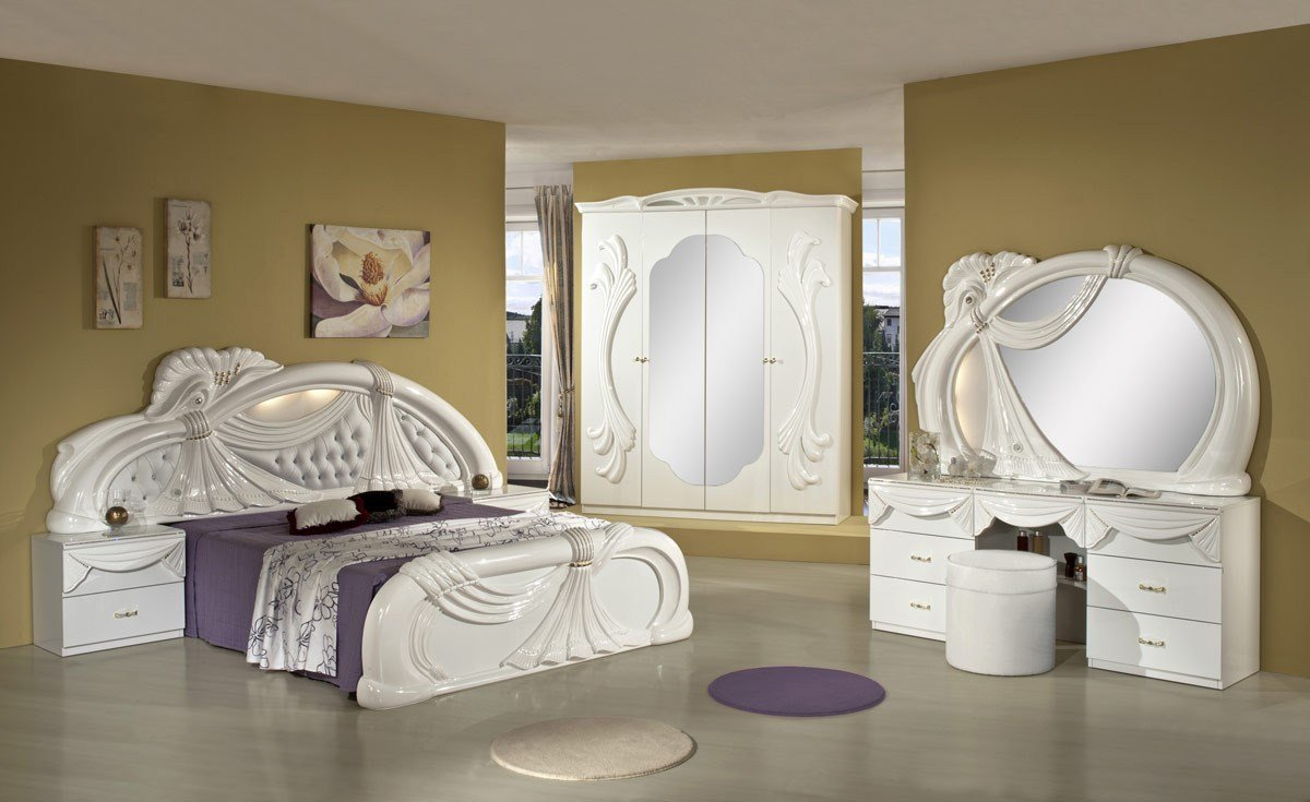 Best Gina White Italian Classic Bedroom Set Made In Italy With Pictures