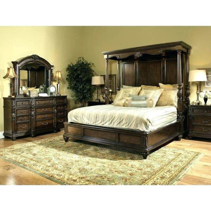 Best Bed Set Cal King Classic Brown 4 Piece Bedroom California With Pictures