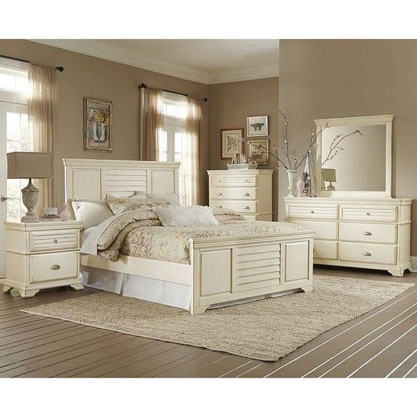 Best Malina Off White Cottage Style 5 Piece Bedroom Set With Pictures