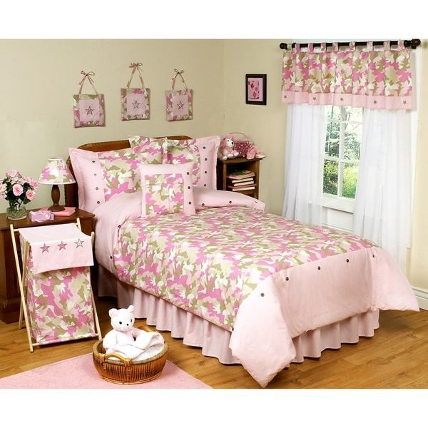 Best Sweet Jojo Designs Pink Camouflage 4 Piece Girl S Twin With Pictures