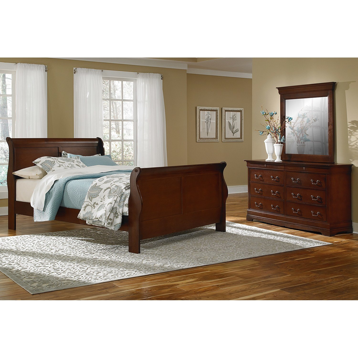 Best Neo Classic Cherry Bedroom 5 Pc King Bedroom Value City With Pictures