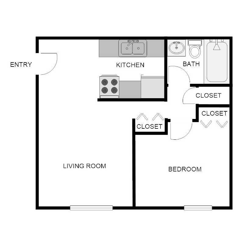 Best 1 Bedroom 1 Bath Apartment Biscayne Apartments With Pictures