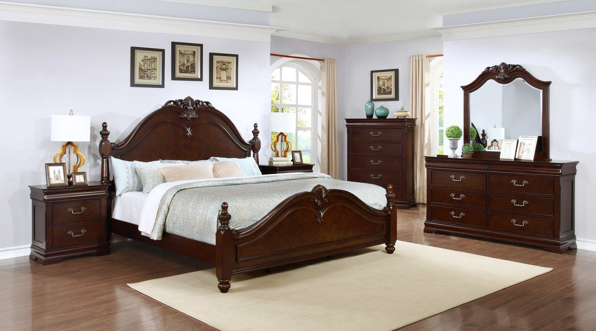 Best Quality Furniture Panel 4 Piece Bedroom Set Ebay With Pictures