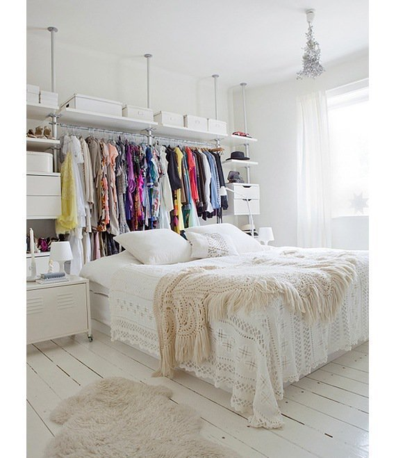 Best 13 Ways To Make Your Room Without A Closet Work With Pictures