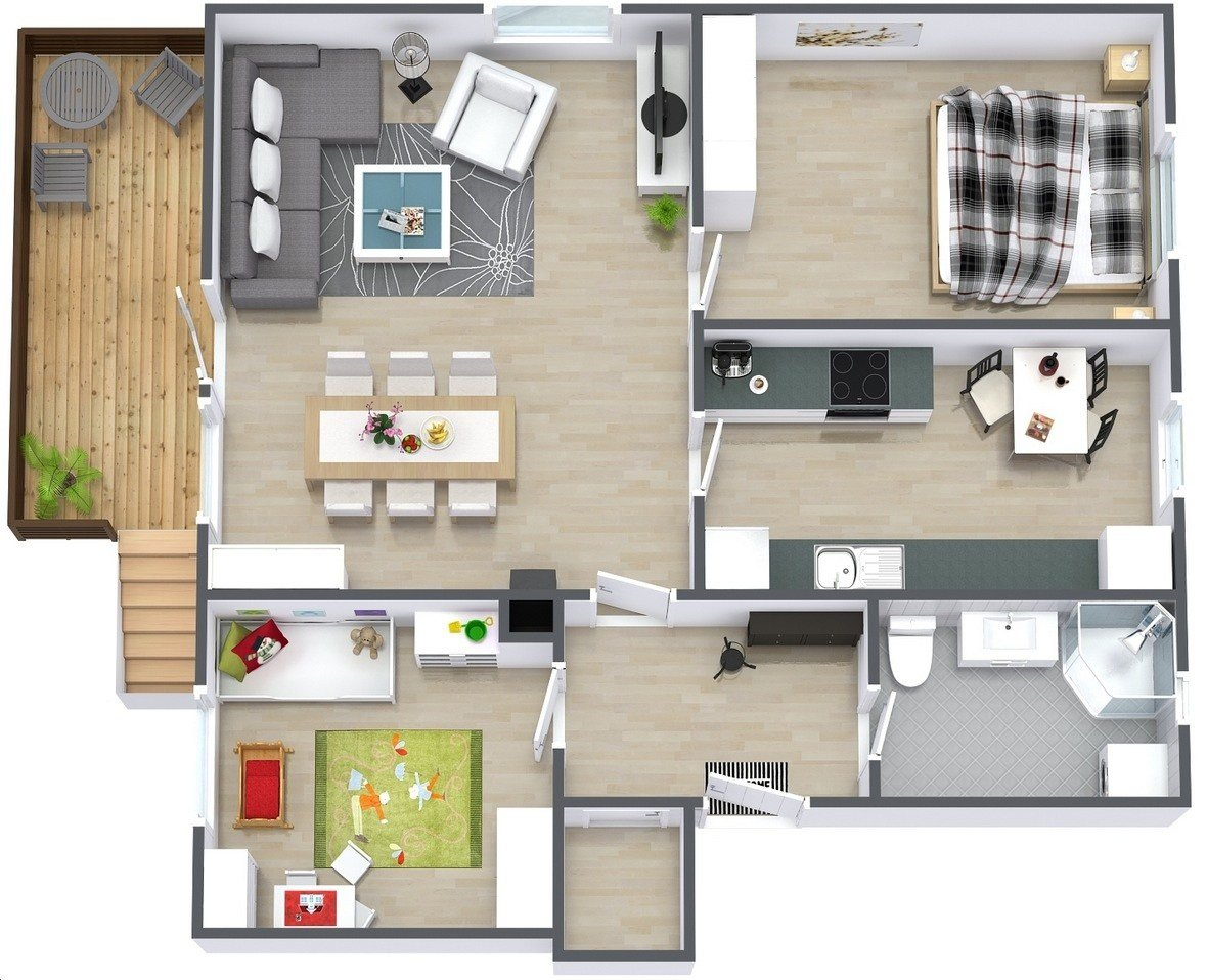 Best 50 Two 2 Bedroom Apartment House Plans Architecture Design With Pictures