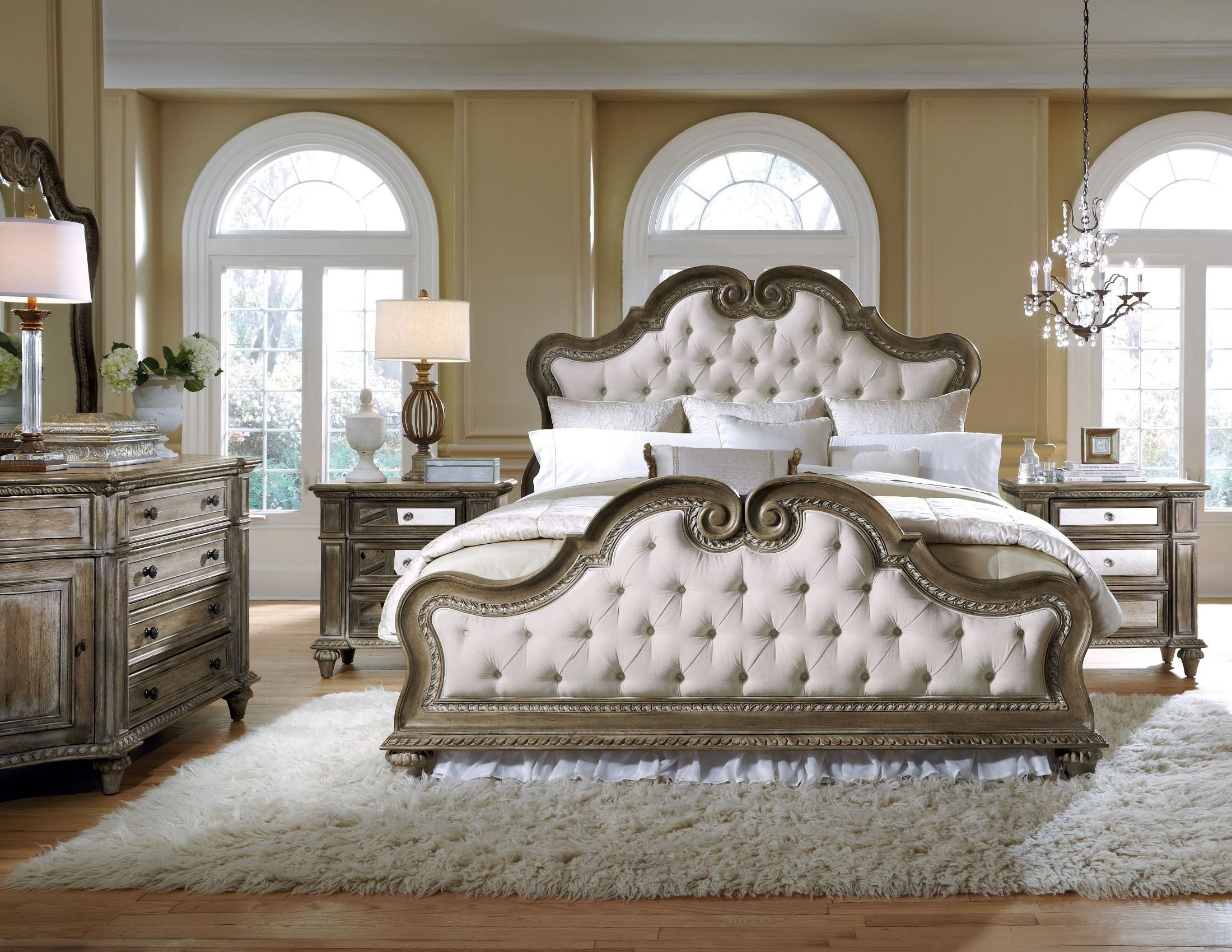 Best Arabella Upholstered Bedroom Set 211170 211171 211172 With Pictures