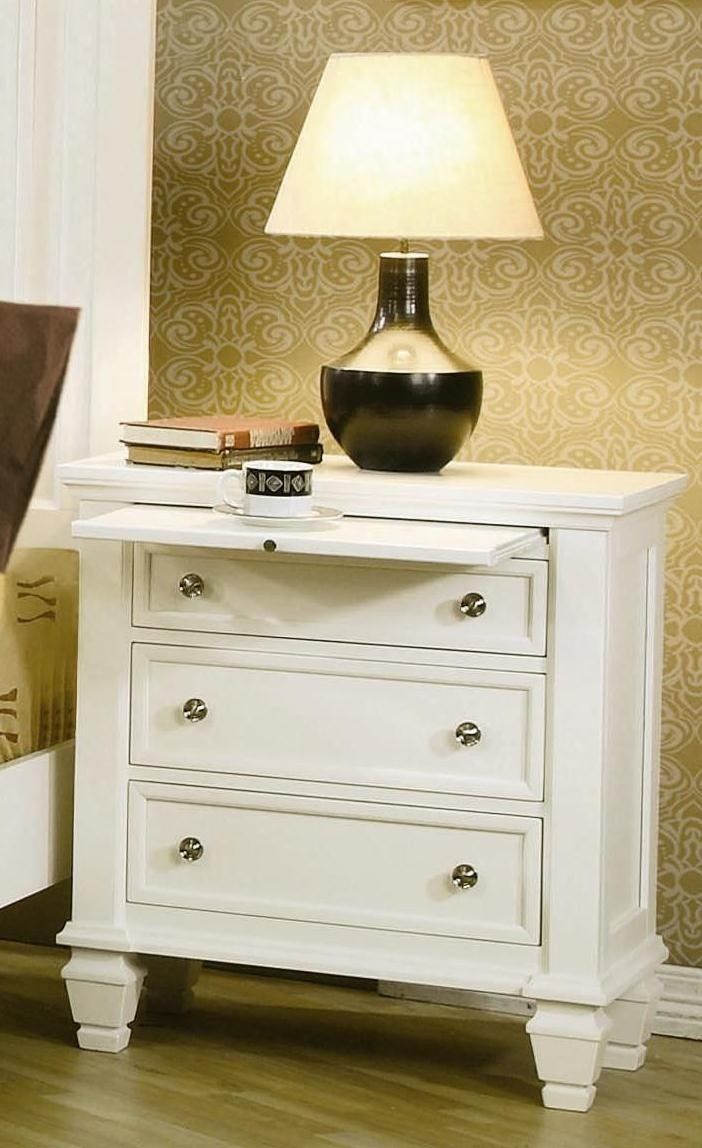 Best Sandy Beach White Sleigh Storage Bedroom Set 201309 With Pictures
