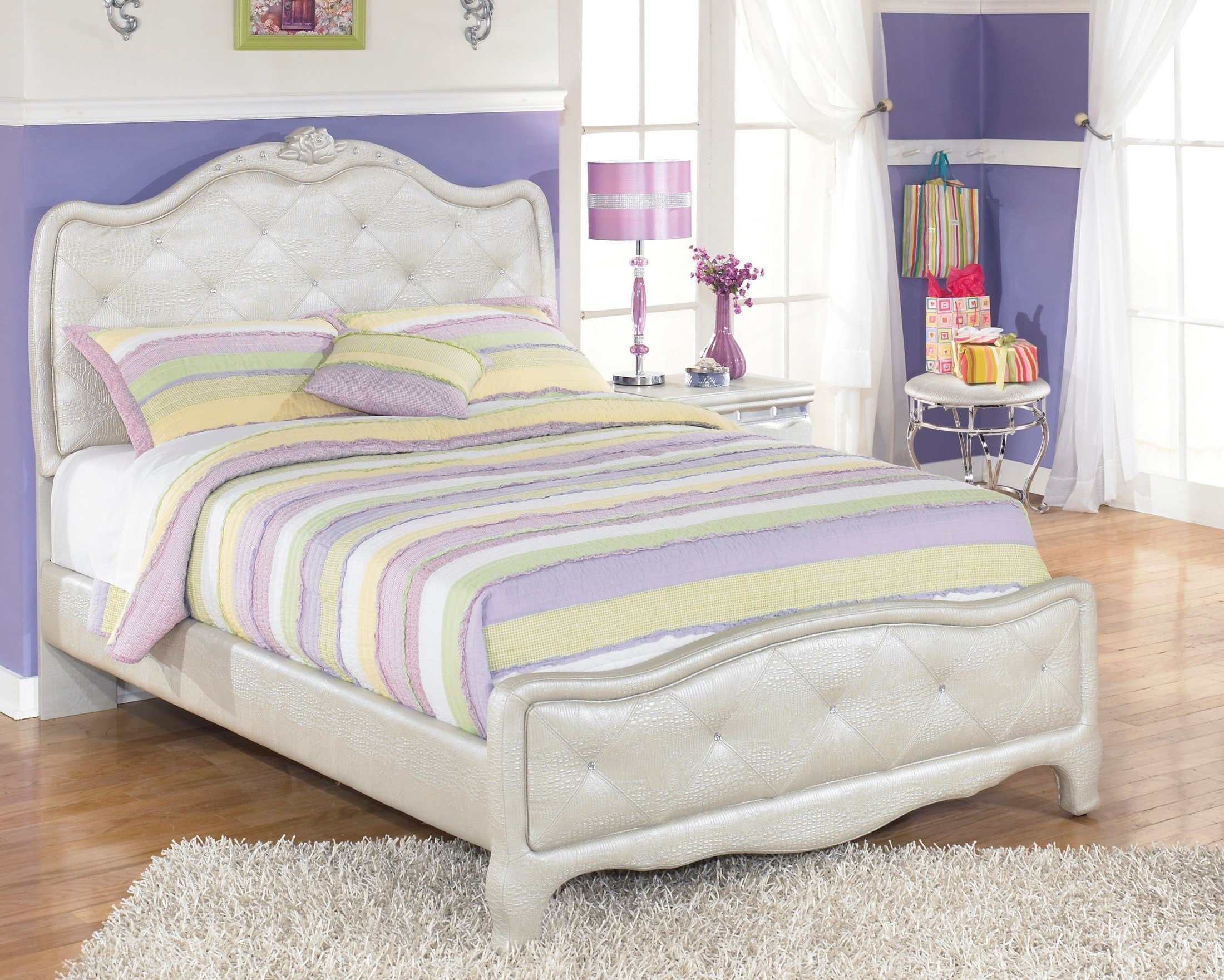 Best Zarollina Youth Upholstered Bedroom Set B182 63 62 With Pictures