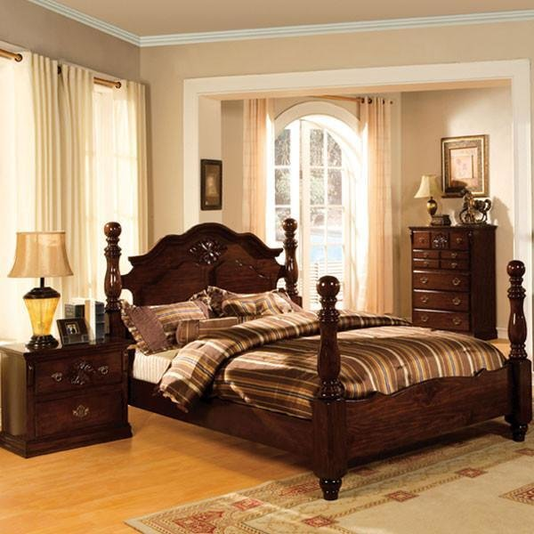 Best Tuscan Colonial Style Dark Pine Finish 6 Piece Bedroom Set With Pictures