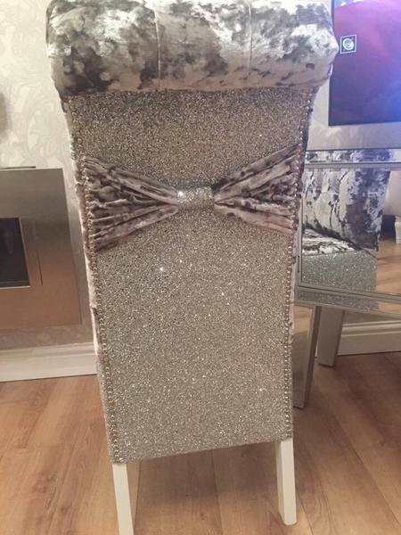 Best Glitter Back Luxury Dining Chairs – House Of Sparkles With Pictures