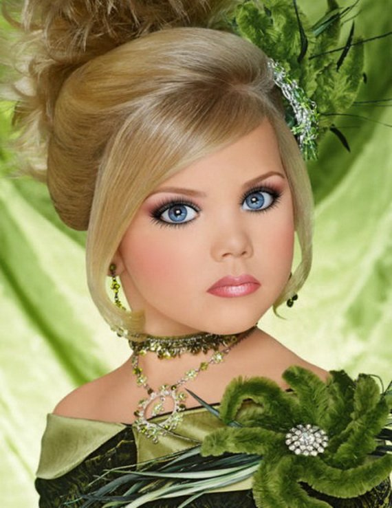 Free Pageant Hairstyles For Little Girls Wallpaper