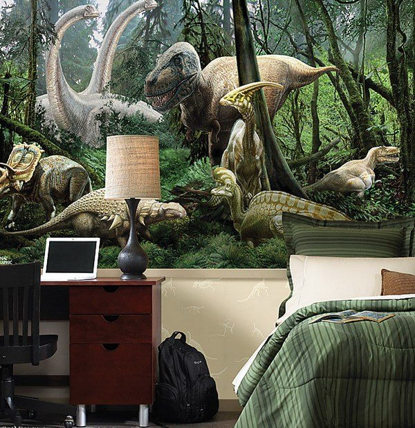 Best Kids Bedrooms With Dinosaur Themed Wall Art And Murals With Pictures