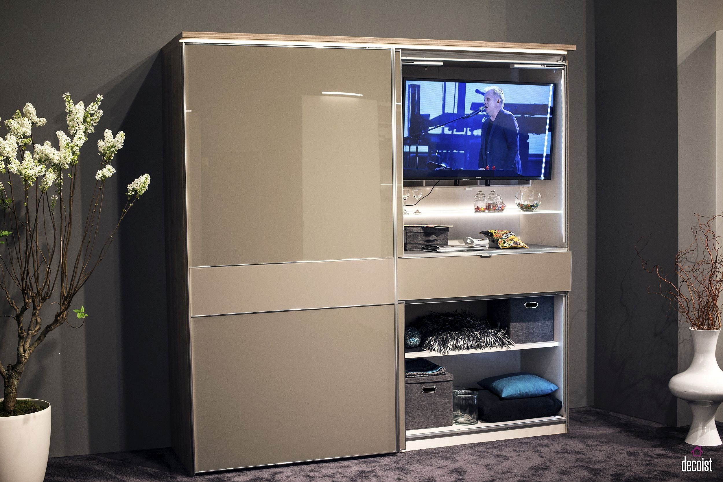 Best Tastefully Space Savvy 25 Living Room Tv Units That Wow With Pictures