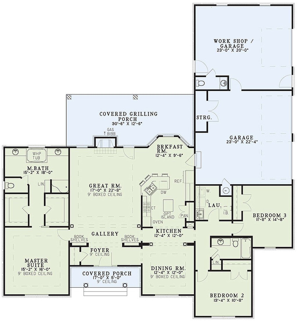 Best Ranch Style House Plan 3 Beds 2 5 Baths 2096 Sq Ft Plan With Pictures