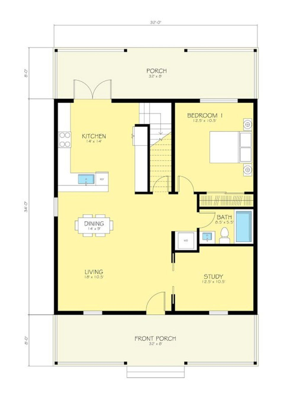 Best Cottage Style House Plan 2 Beds 2 Baths 1616 Sq Ft Plan With Pictures