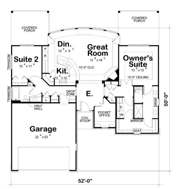 Best Craftsman Style House Plan 2 Beds 2 Baths 1436 Sq Ft With Pictures