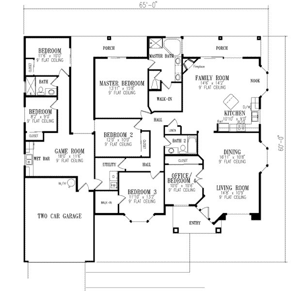 Best Mediterranean Style House Plan 6 Beds 3 Baths 2511 Sq Ft With Pictures