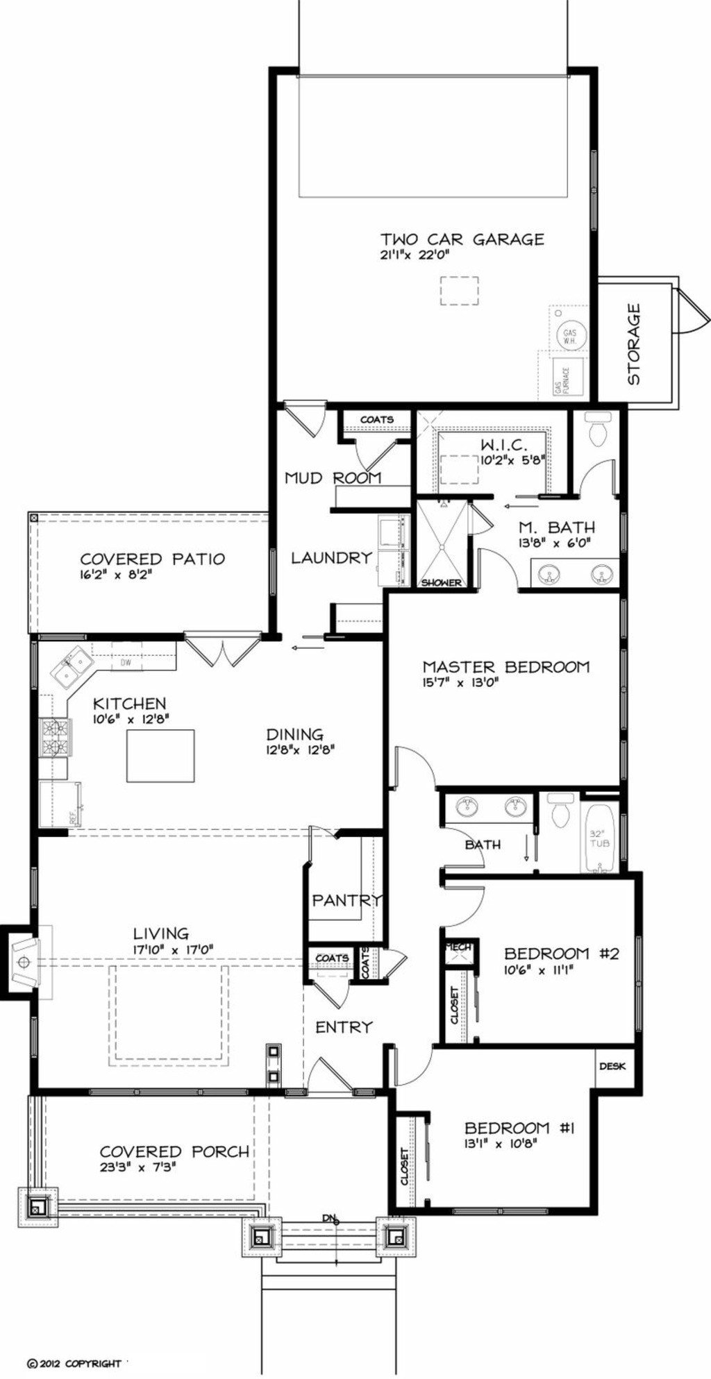 Best Craftsman Style House Plan 3 Beds 2 Baths 1749 Sq Ft With Pictures