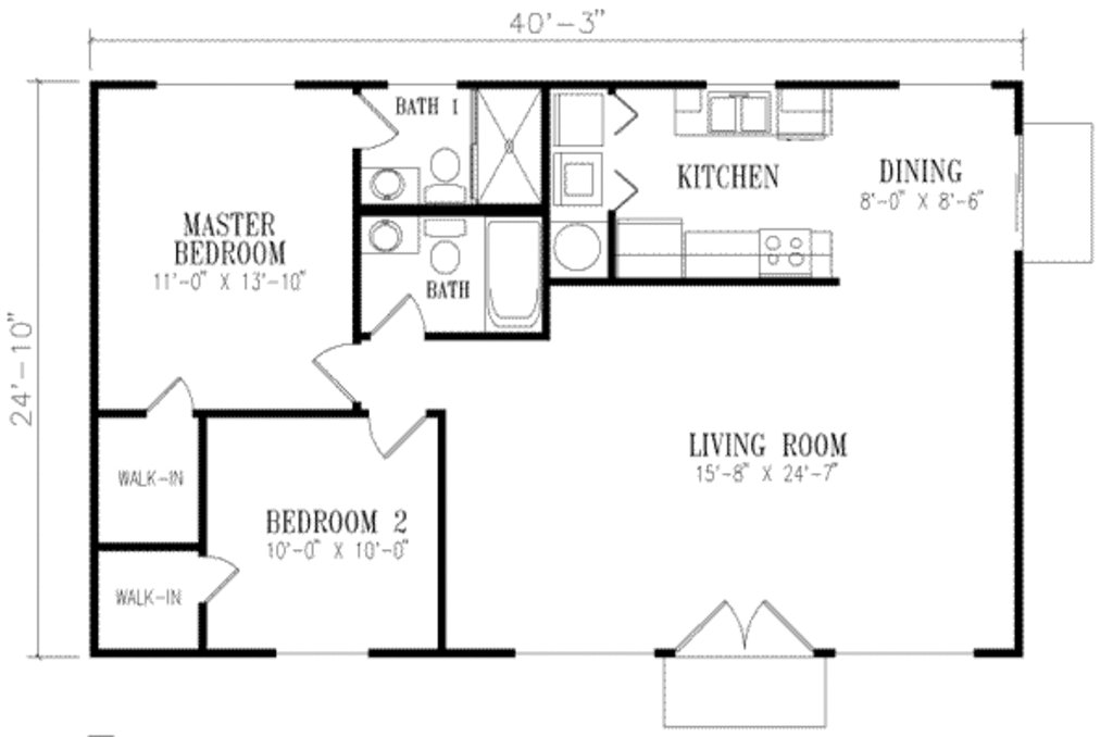 Best Mediterranean Style House Plan 2 Beds 2 Baths 1000 Sq Ft With Pictures