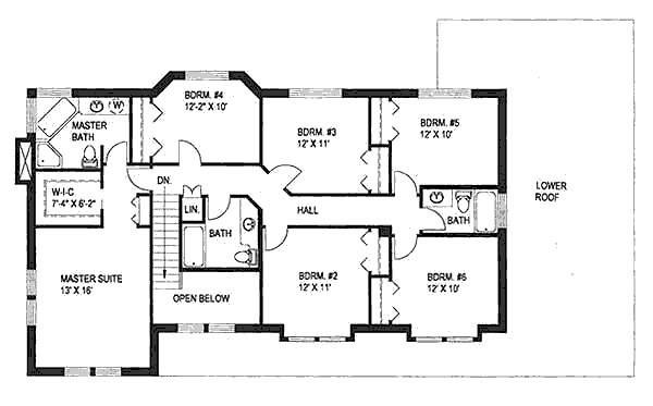 Best Traditional Style House Plan 6 Beds 4 Baths 2886 Sq Ft Plan 117 139 With Pictures