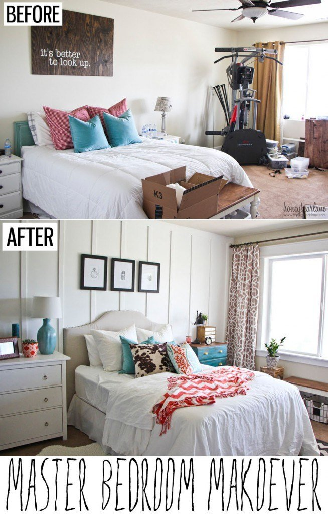 Best Three Inspiring Before And After Bedroom Renovations On A With Pictures