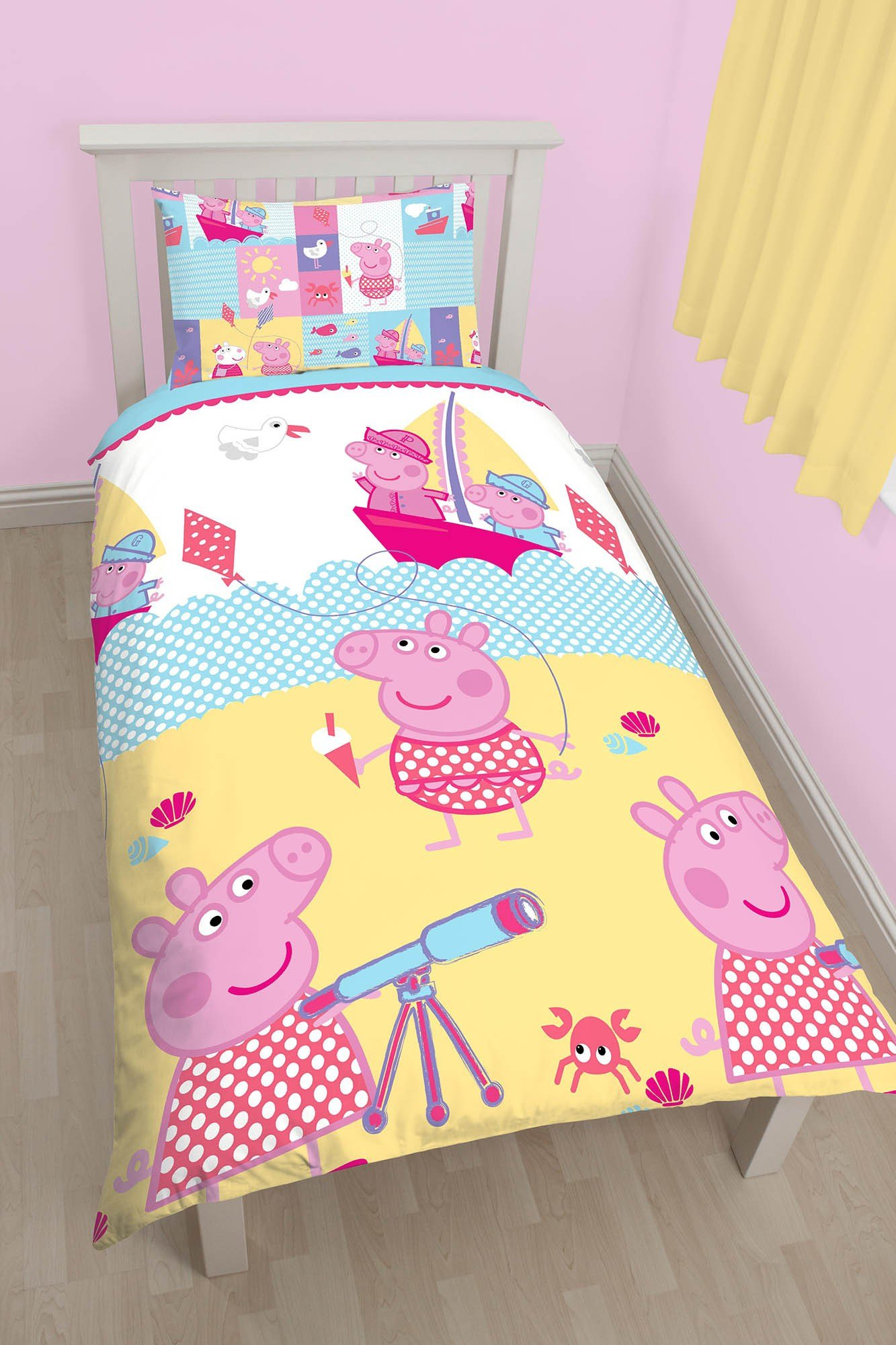 Best New Peppa Pig Nautical Single Duvet Quilt Cover Bedding With Pictures