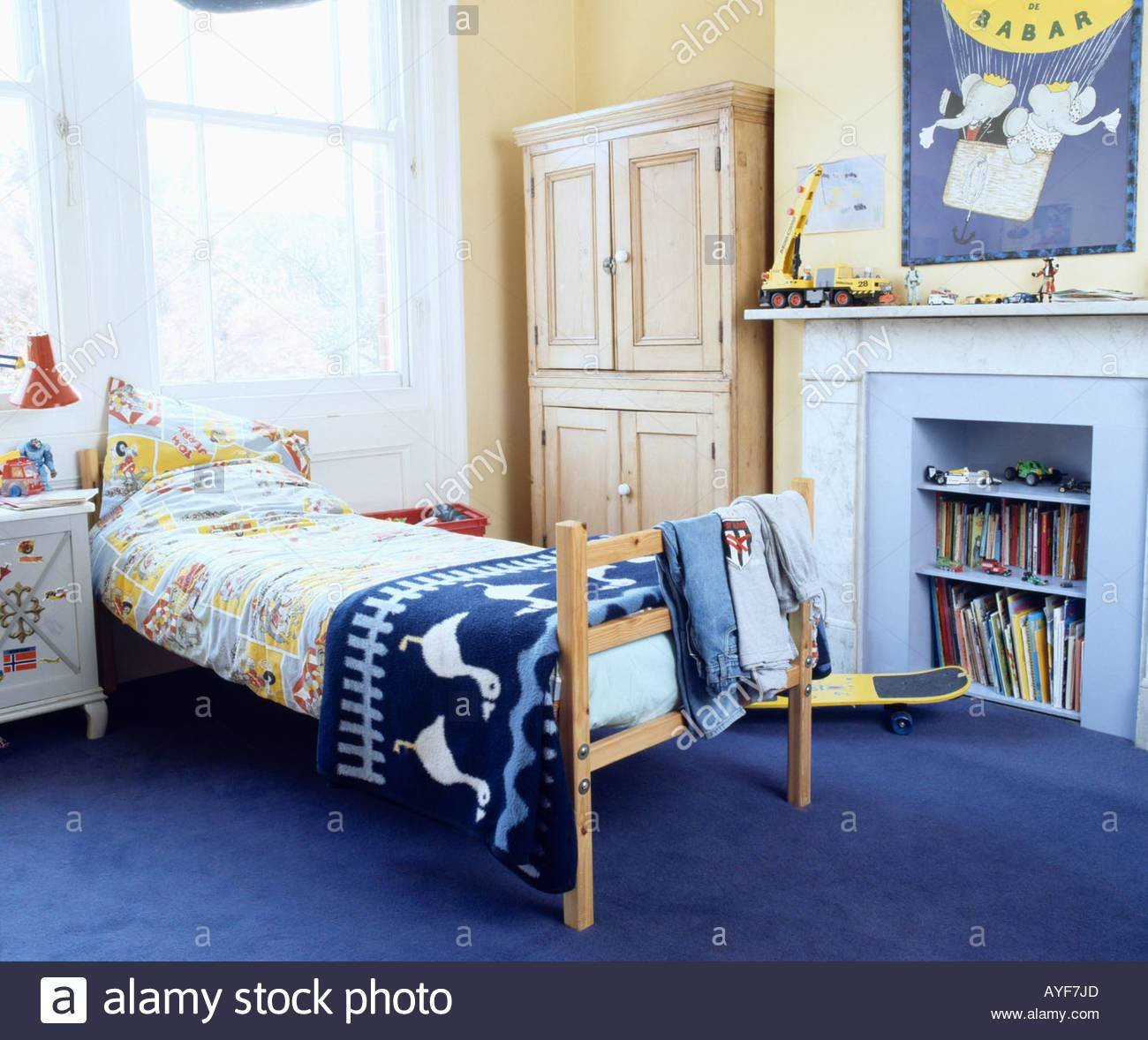 Best Children S Bedroom With Blue Rug On Bed And Blue Carpet With Pictures