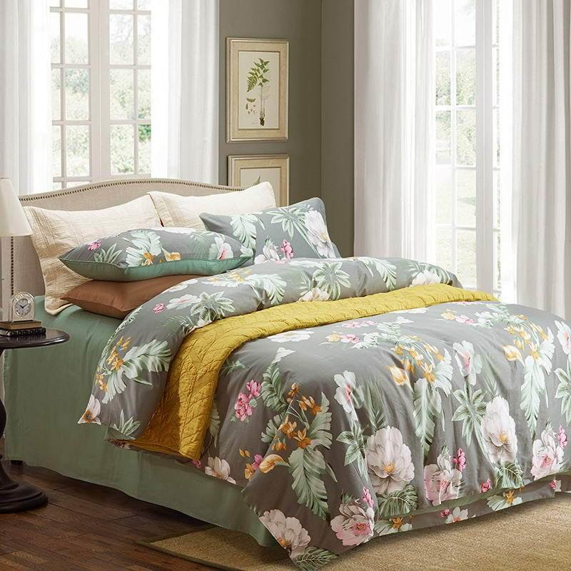 Best Western Country Style Bohemian Bedding Set Queen King Feather Print Comforter With Pictures
