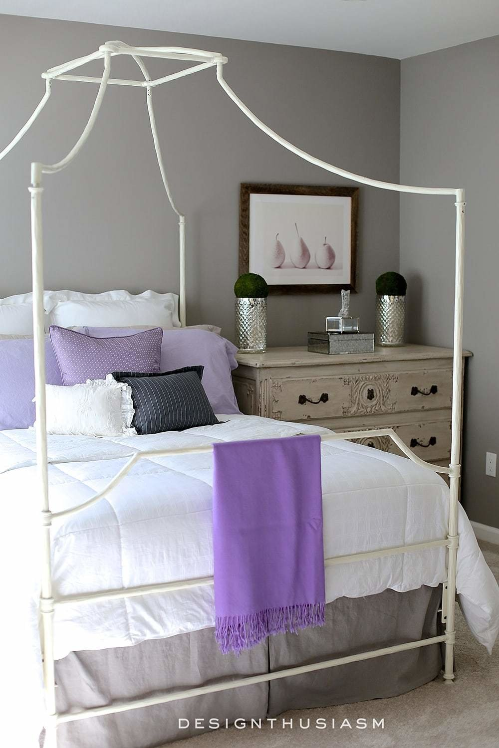 Best Grey Bedroom Ideas Mixing Lilac And Grey In An Updated With Pictures