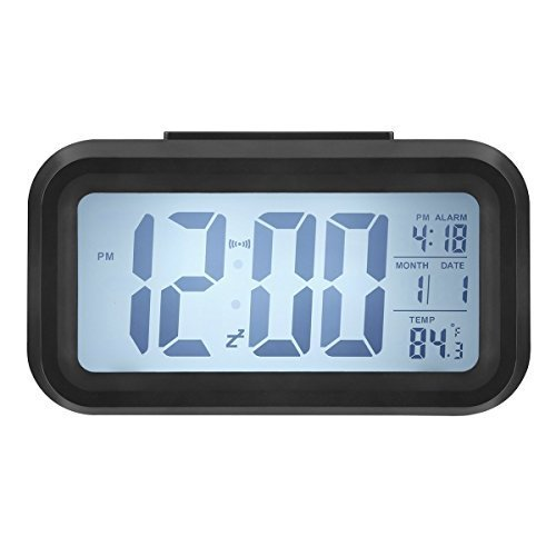Best Led Digital Alarm Clock Battery Snooze Time Date With Pictures