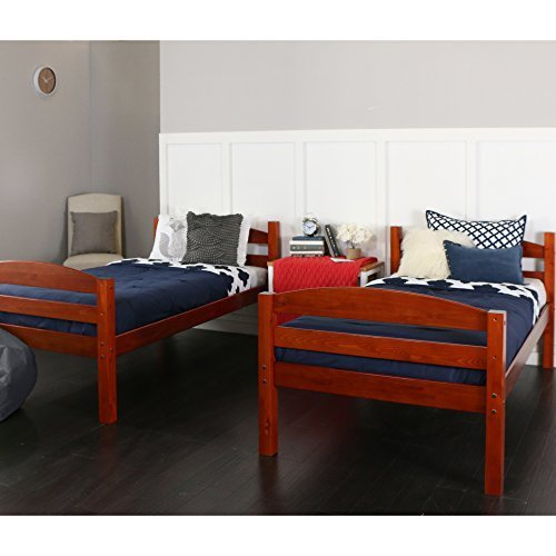 Best We Bunk Beds Kids Bedroom Furniture Full Size Twin Separate Solid Wood Cherry Us With Pictures