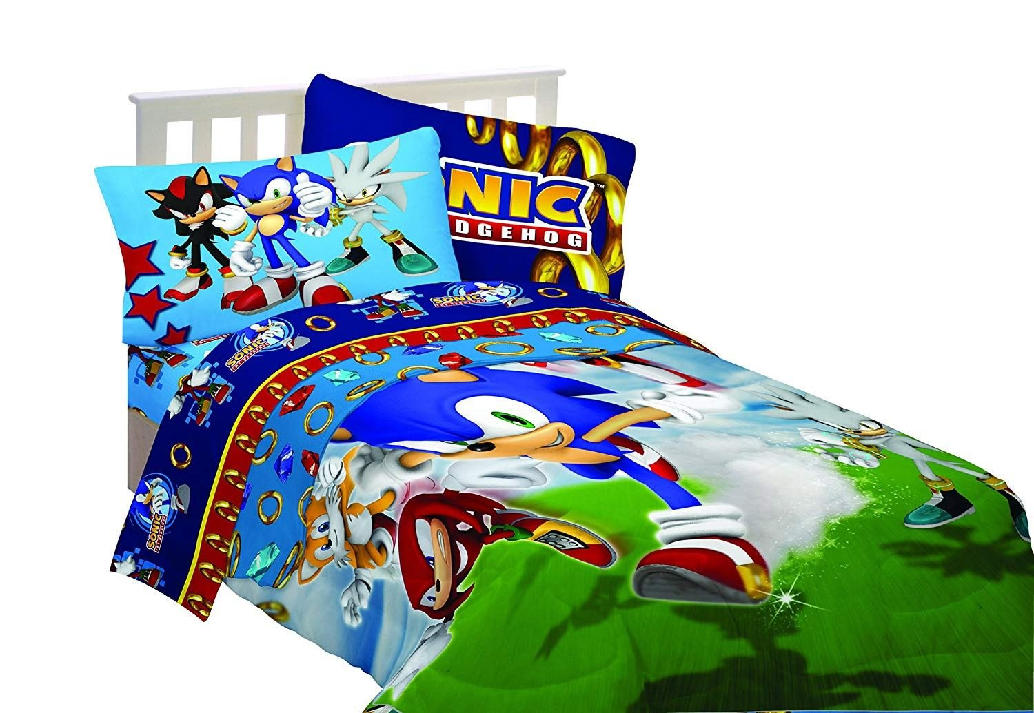 Best Sega Sonic The Hedgehog Super Sonic Twin Bedding Sheet Set Reversible Comforter With Pictures