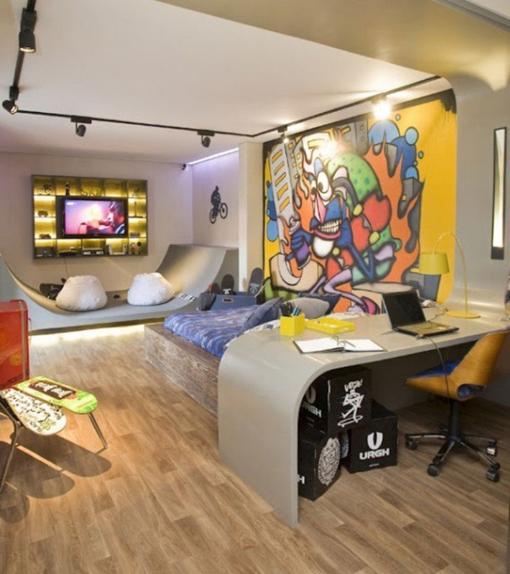 Best 18 Gorgeous Graffiti Wall Interior Inspirations Godfather Style With Pictures