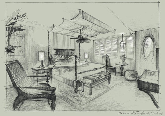 Best Bedroom Drawing Pencil At Getdrawings Com Free For With Pictures