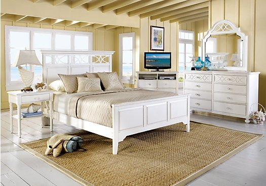 Best The Cindy Crawford Seaside King White 5Pc Panel Bedroom With Pictures