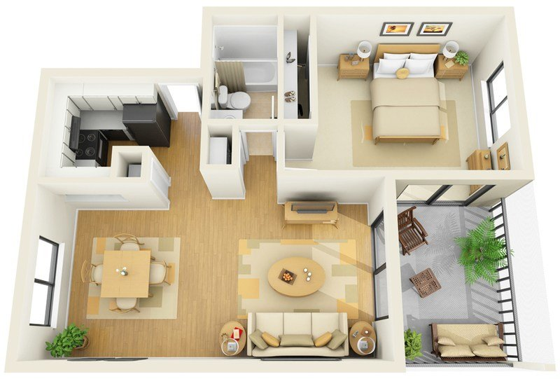 Best Stirring One Bedroom Apartment Floor Plans With A Pretty With Pictures