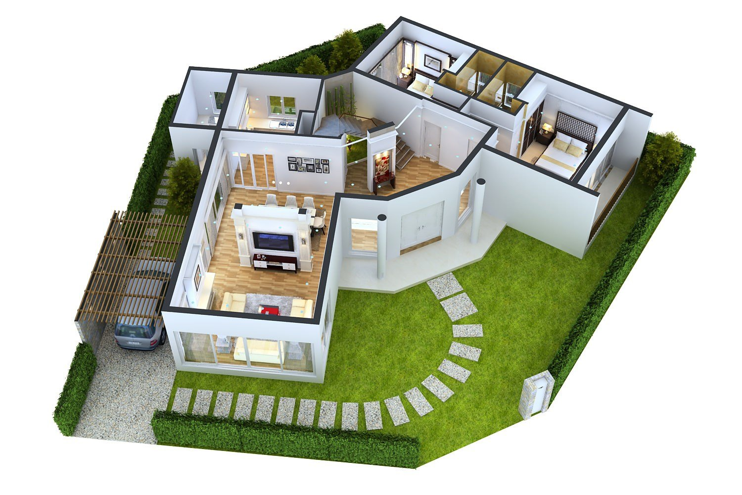 Best Impressive Floor Plans In 3D Home Design With Pictures