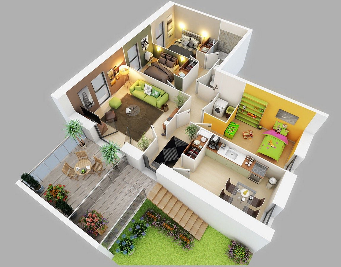 Best Three Bedroom House Apartment Floor Plans Home Design With Pictures