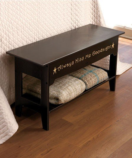 Best Bedroom Storage Bench Seat Shelf Black Or Walnut With Pictures