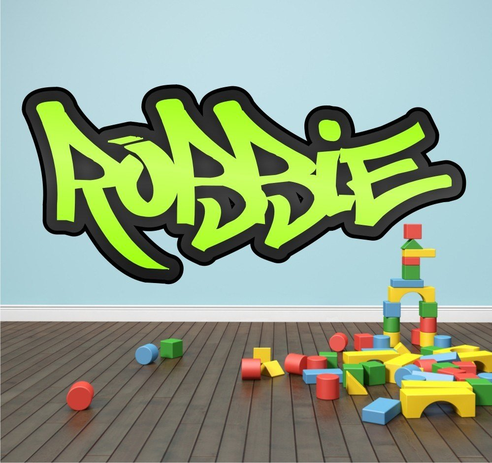 Best Personalised Graffiti Name Wall Sticker Kids Transfer Huge With Pictures