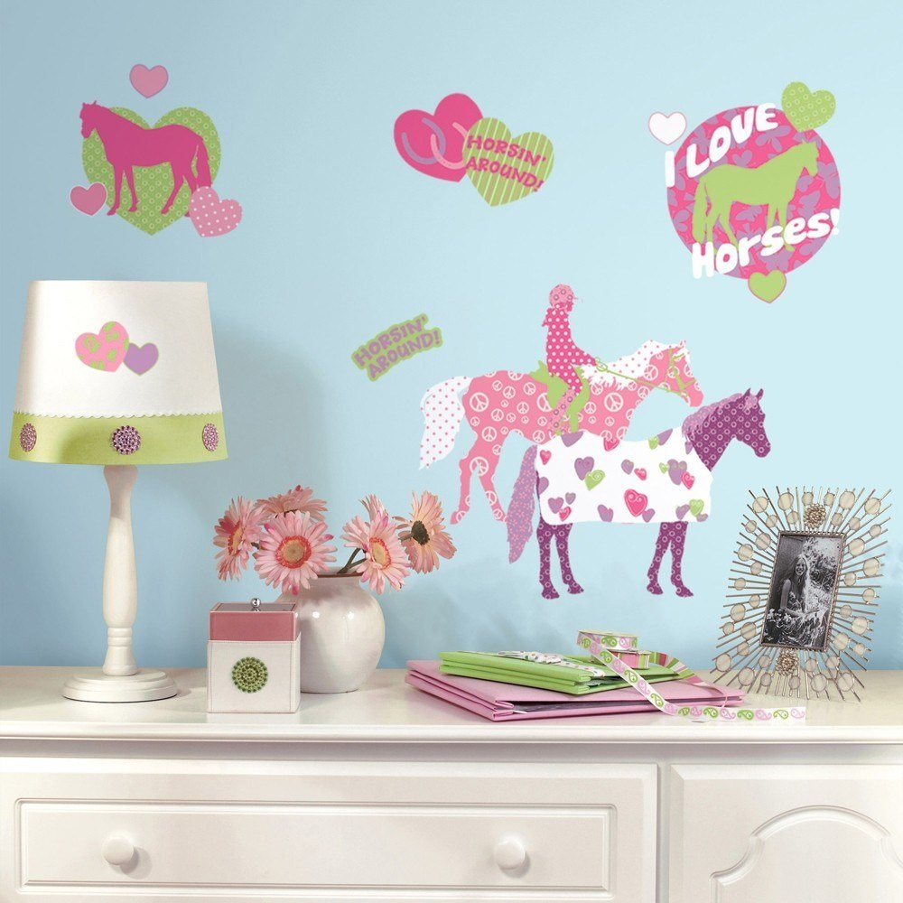 Best 44 New Horse Crazy Wall Decals Girls Horses Stickers Pink With Pictures