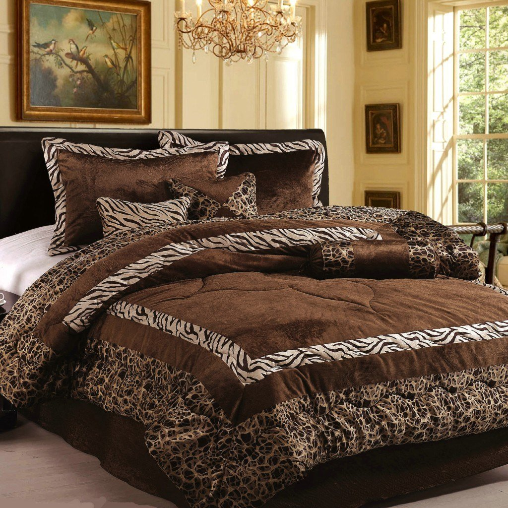 Best New 7Pc In Set Luxury Safarina Brown Zebra Animal Bedding With Pictures