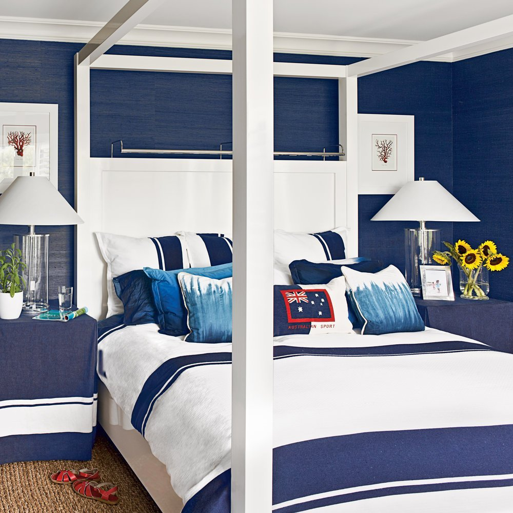 Best Navy And White Bedroom Ideas For Blue Bedrooms Coastal With Pictures