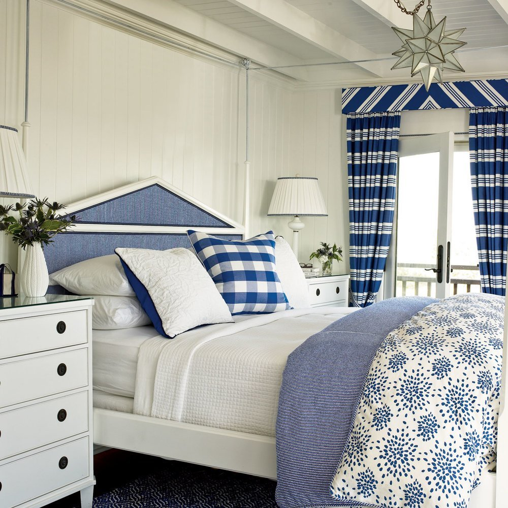 Best Blue And White Coastal Bedroom Soothing Beachy Bedrooms With Pictures