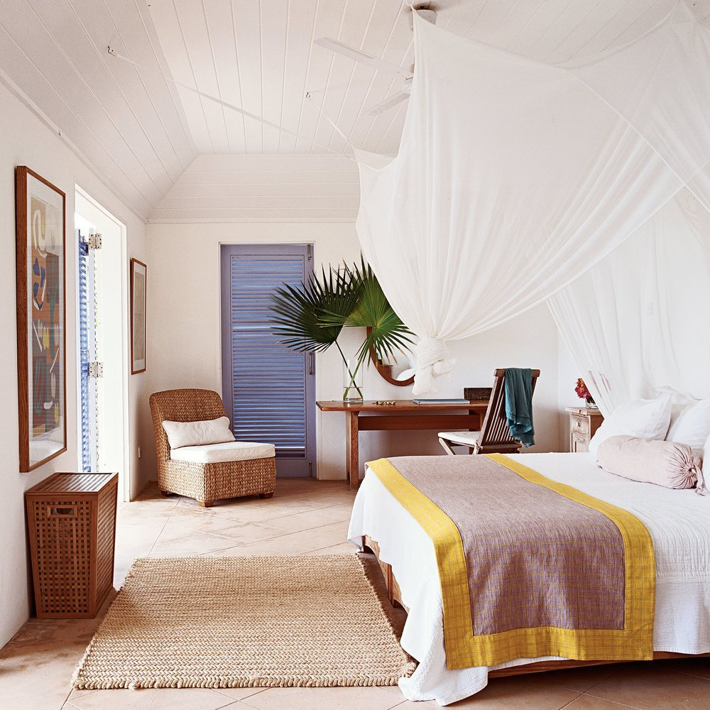 Best Beachy Neutral Bedroom Louvered Doors Boho Beach Style With Pictures