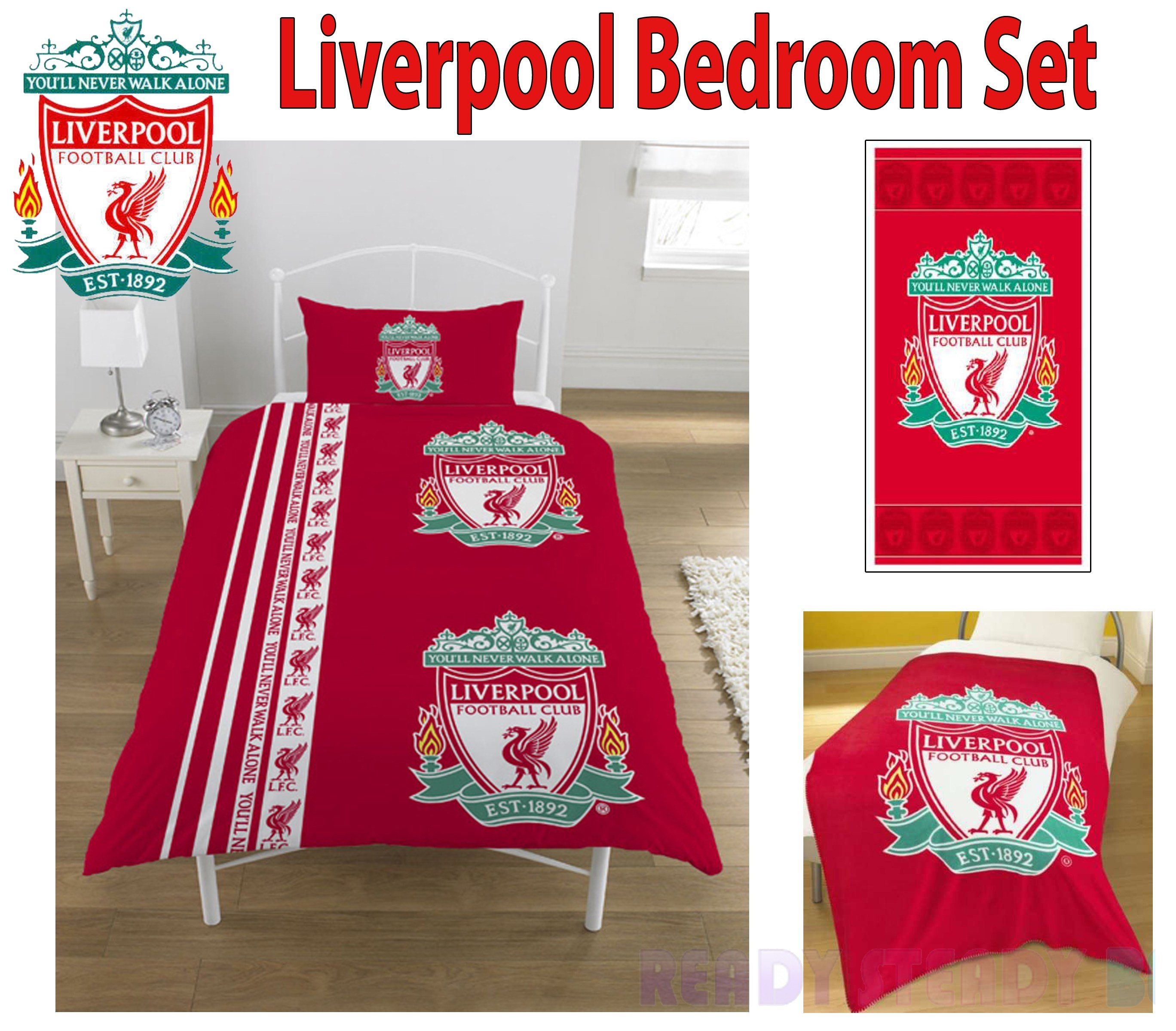 Best 5Pc Liverpool Fc Full Bedroom Set Children S Bedding Ebay With Pictures