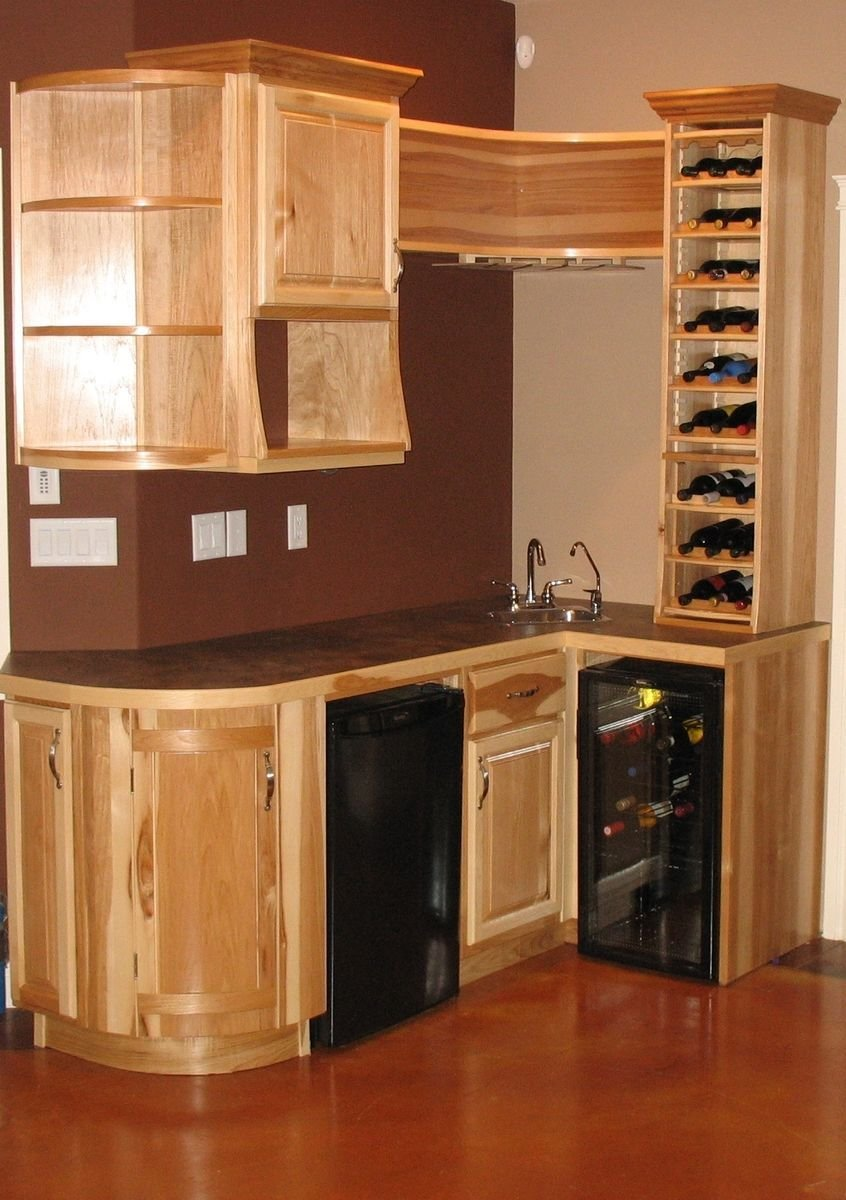 Best Hand Made Hickory Wet Bar By Jim Coffey Furniture Cabinet Maker Custommade Com With Pictures